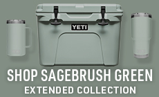 Select to shop the new Sagebrush Green Color Collection, found in Hard and Soft Coolers